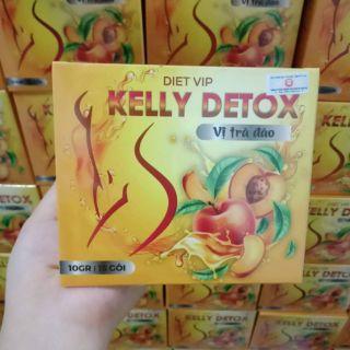 Trà đào kelly detox giảm cân chính hãng công ty thảo vũ