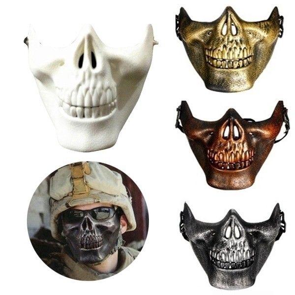 Unisex 3D Skull Skeleton Half Face Protective Mask