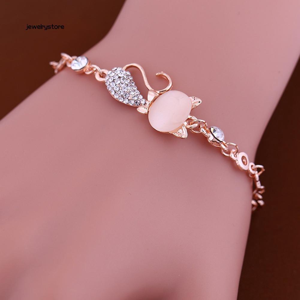 Vòng tay đính đá Opan hình mèo dễ thương dành cho nữ - 14148201 , 2351303912 , 322_2351303912 , 25000 , Vong-tay-dinh-da-Opan-hinh-meo-de-thuong-danh-cho-nu-322_2351303912 , shopee.vn , Vòng tay đính đá Opan hình mèo dễ thương dành cho nữ