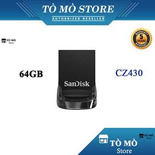 [Mã ELFLASH5 giảm 20K đơn 50K] USB 3.1 SanDisk Ultra Fit CZ430 64GB 130MB/s - Bảo hành 5 năm