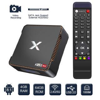 Đầu Tv Box Android Tivi Box A95X Max X2 4gb 64gb Amlogic S905X2 2.4g & 5g Wifi Bt 4.2 1000m 4k Hd Smart Tv Box