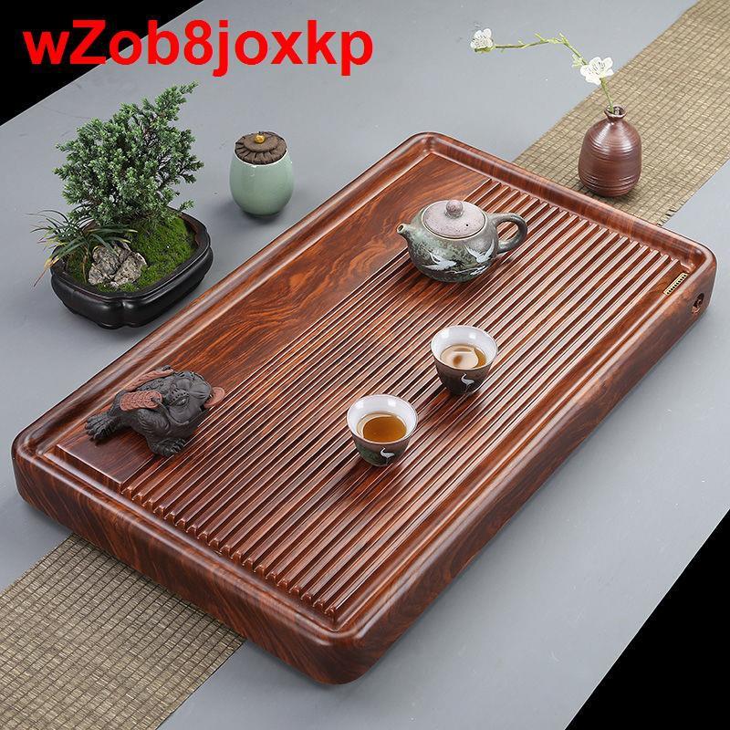 Toàn bộ khay trà gỗ mun, bàn nguyên tấm, cẩm lai đơn giản kích thước Kung Fu biển <1