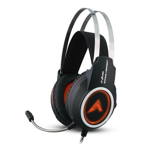 Tai nghe chụp tai chuyên game Ovann X80 có Led - Super Bass (Đen)