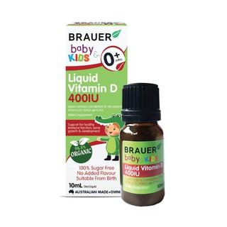 Brauer Vitamin D 400IU dạng lỏng cho bé từ 0 tuổi 10ml