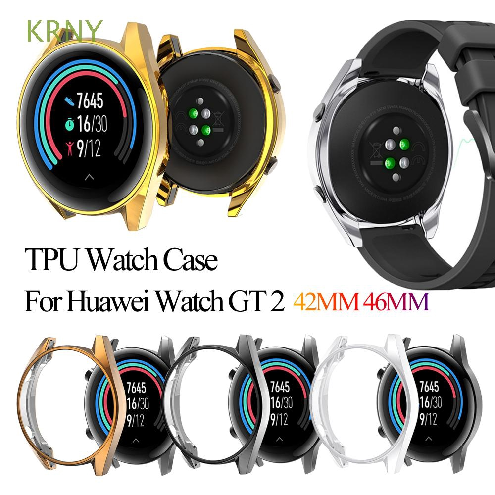 KRNY Ultra Thin Plating TPU Case For Huawei Watch GT 2 46mm/42mm Smart Watch Protective Shell