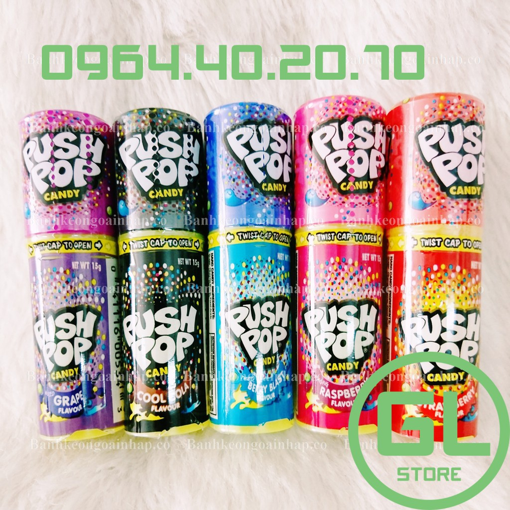Combo 5 cây kẹo son Push Pop đủ vị - Úc date 02/2021