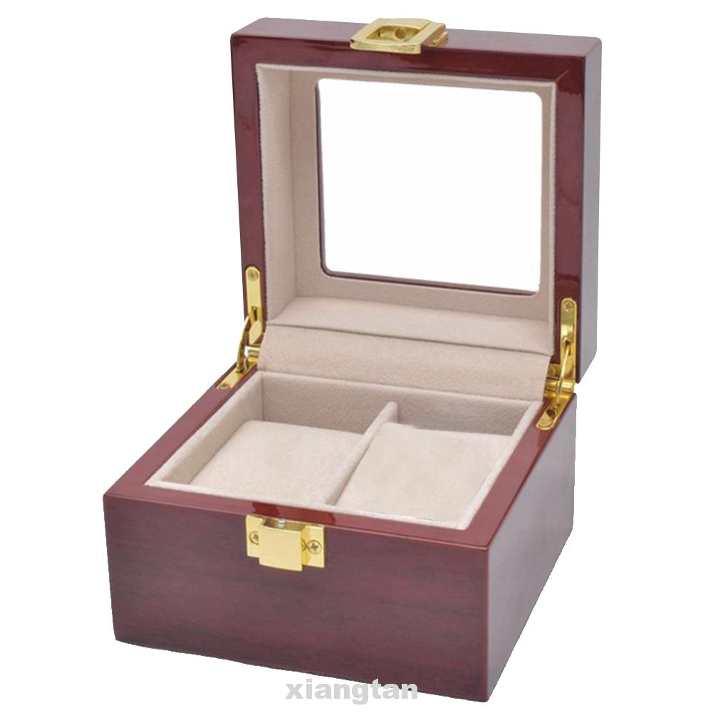 Clear Glass Home Organizer Storage Gifts Travel Collector Carrying Watch Box