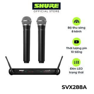 Bộ Micro không dây Karaoke Shure SVX288A/PG58 Chính Hãng – Micro cao cấp dành cho coffee, phòng trà, karaoke, tiệc cưới