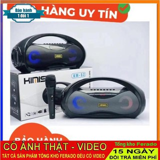 Loa Bluetooth Kimiso  KM-S2 Tặng Micro Hát Karaoke Cao Cấp - Có Đèn Nháy