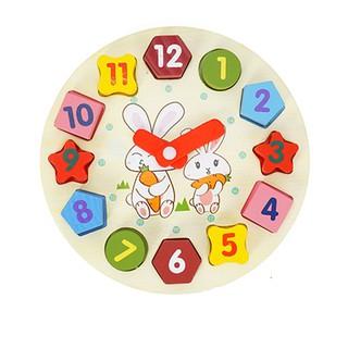 Đồng hồ gỗ cho Bé/ đồ chơi giáo dục đầu đời