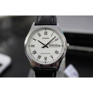 Đồng hồ nam Casio MTP-V006L-7BUDF chống nước độ sâu 50m - Dây da màu đen - Mặt số la