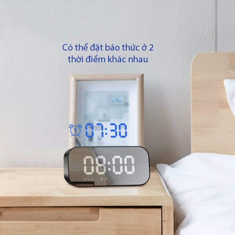 Loa Bluetooth ACOME A5 5W Màn Hình LED Đồng Hồ Báo Thức - Hỗ Trợ Thẻ Nhớ & Nghe FM