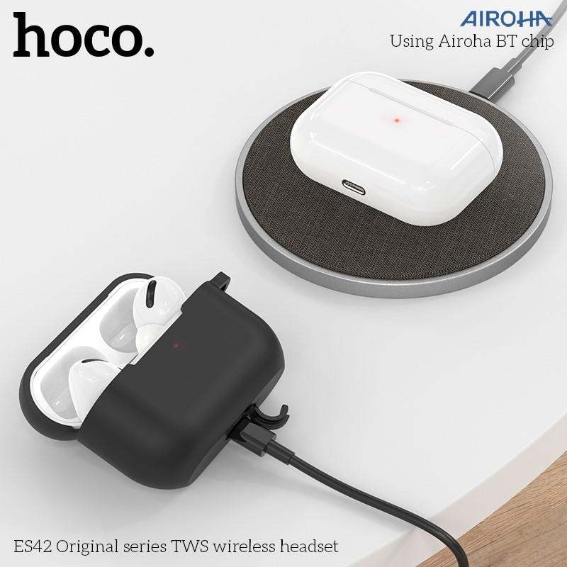 Tai nghe Bluetooth HOCO ES42 NEW 2020 BT5.0 - pin 400mAh - Hỗ trợ sạc không dây - Tặng kèm case