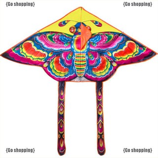 {Go shoppping}Con diều đồ chơi 90*55cm in hình con bướm nhiều màu đẹp mắt kèm dây dài 50m tiện dụng