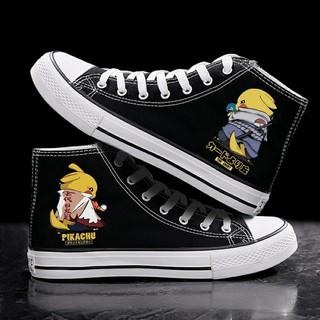 Giày Bốt Cổ Cao In Hình Pikachu Dễ Thương Cho Nam Nữ thumbnail