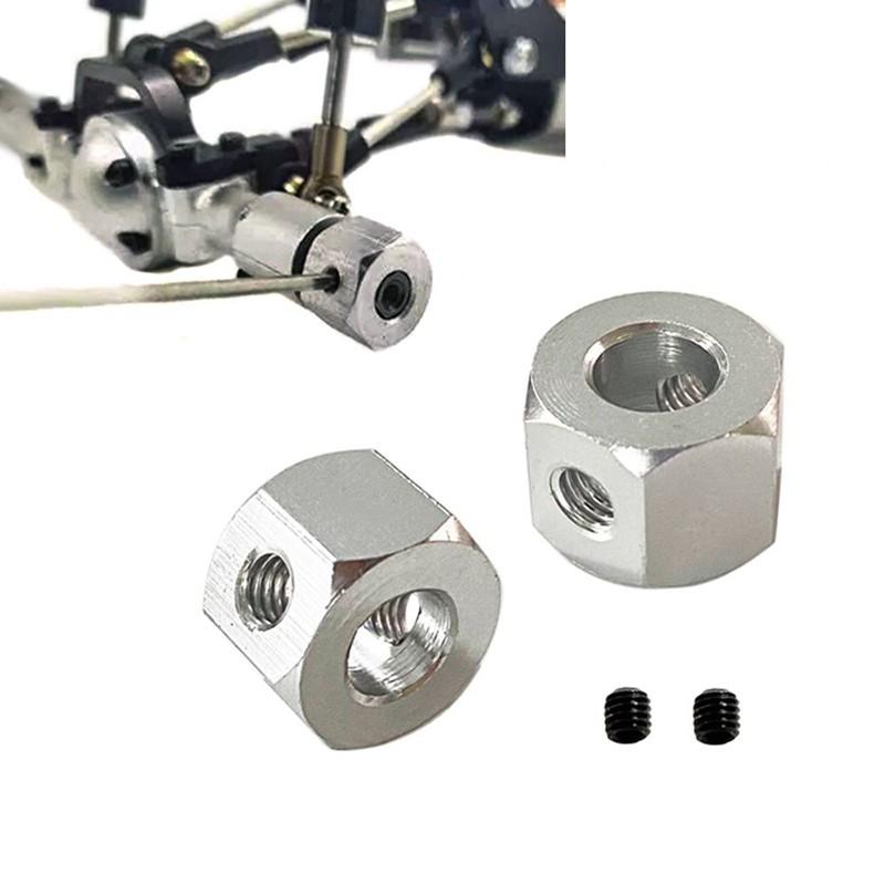 4PCS 5mm to 12mm Metal Combiner Wheel Hub Hex Adapter for WPL D12 B14 B24 MN D12 B14 B24 RC...