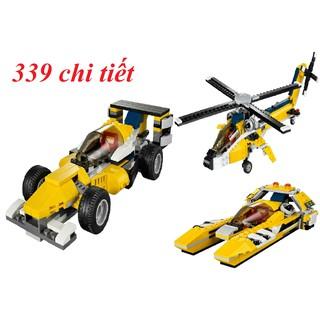 LEGO 3in1 Trực Thăng biến hình Tàu Ngầm Tên Lửa, Xe Bọc Thép