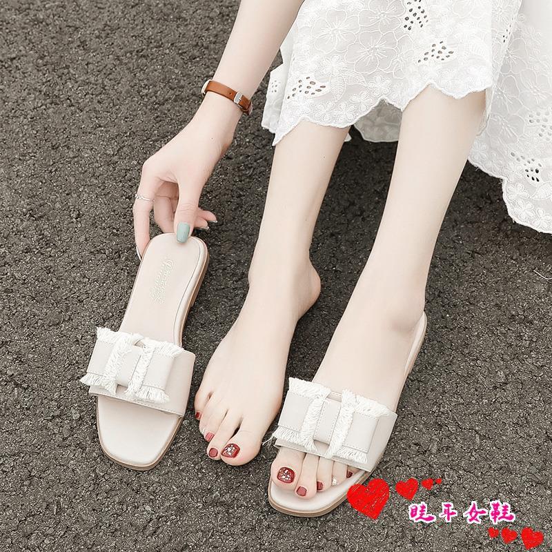 ☆spot stock ☆2019 new net infrared wear cool slippers female