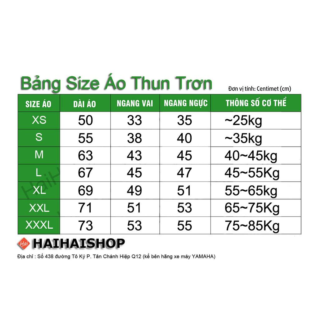 Áo Thun Trơn Nam Nữ Cổ Tròn Nhiều Màu, Chính Hãng Ken T-Shirt