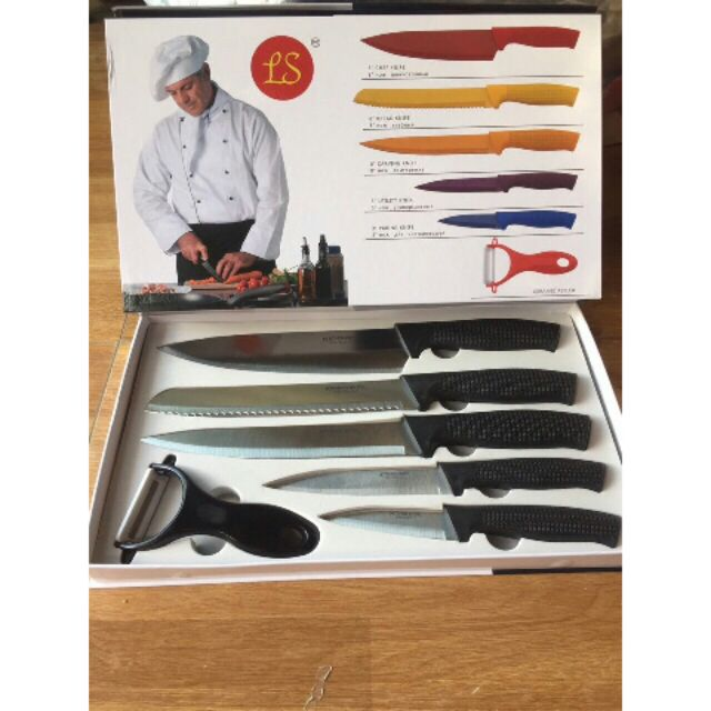 Bộ dao làm bếp 6 món - 2923465 , 1286528059 , 322_1286528059 , 170000 , Bo-dao-lam-bep-6-mon-322_1286528059 , shopee.vn , Bộ dao làm bếp 6 món