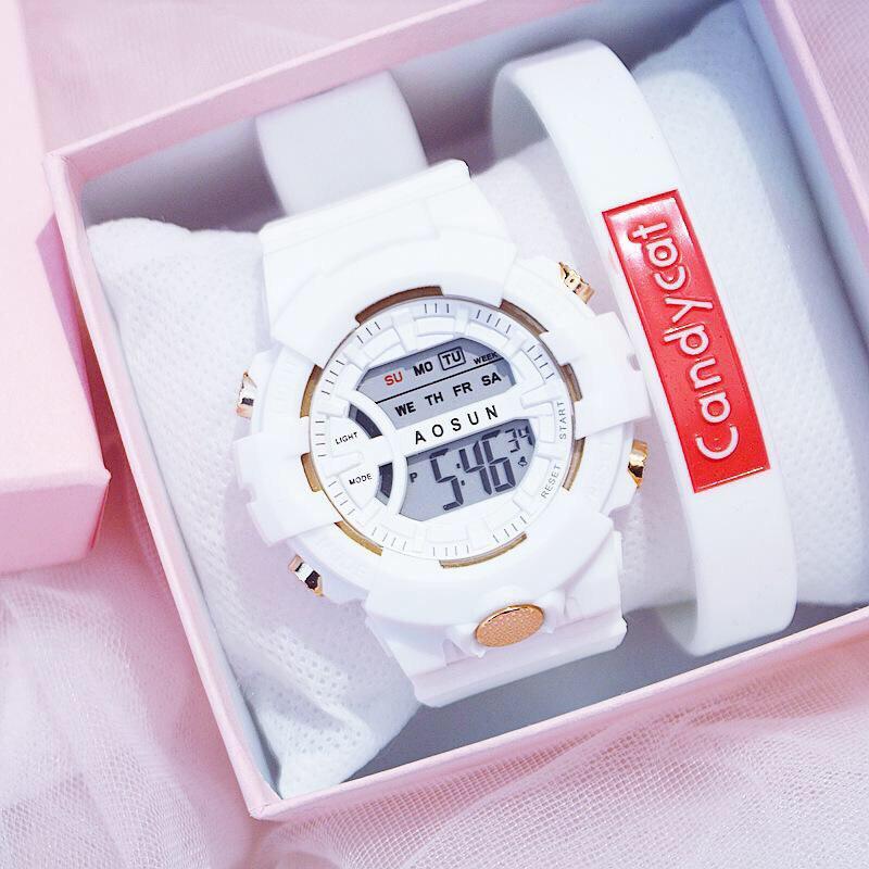 Đồng hồ điện tử nam nữ AOSUN Q121 mẫu mới tuyệt đẹp QA5620