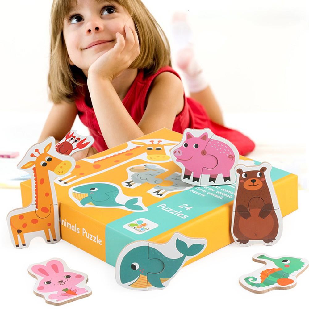 ※※※24Pcs/SetMatching PuzzleCognition Kids Educational Toy