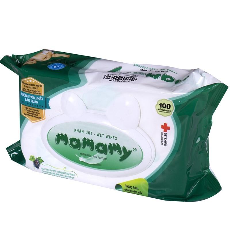 Combo 2 gói giấy ướt Mamamy có nắp (100 tờ)