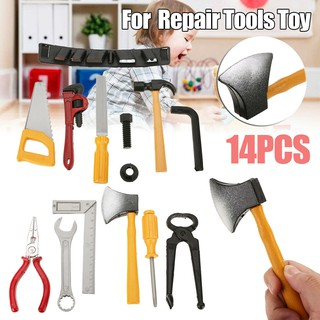 14pcs Plastic Hammer/Screwdriver/Wrench Repair Tools Toy Set For Kids Children