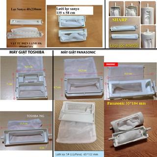 (Các hãng) Túi lưới lọc máy giặt TOSHIBA,SANYO,PANASONIC,LG,HITACHI SHARP (Chọn hãng, kích thước như hình)