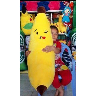 GẤU BÔNG GIÁ SỈ -Gối ôm hình quả chuối cảm xúc Super Cute 1m2.Gấu Bông quả chuối thumbnail