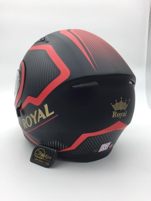 Mũ bảo hiểm Royal M179 tem V4 đỏ, lật cằm 2 kính