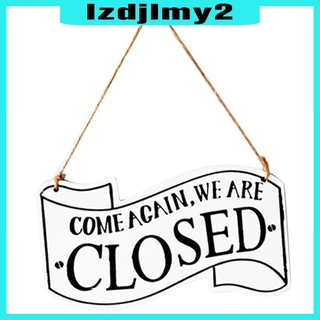 Wooden Open Closed Sign Double Sided Wood Door Plaque Store Business Red