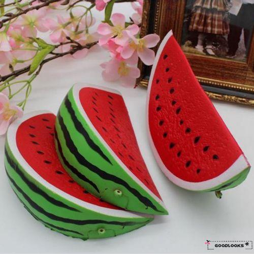 HGL♪Kids Adult Bread Squeeze Mini Toys Slow Rising Watermelon Fruit Scented