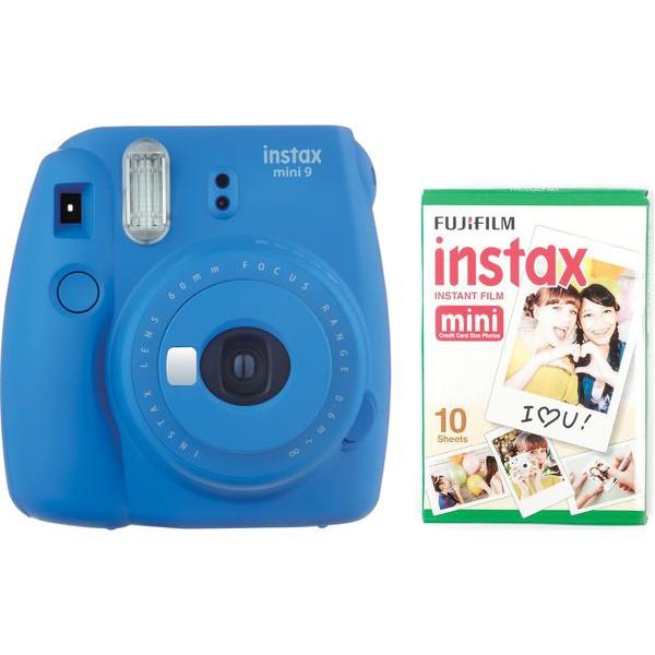Máy ảnh Fijifilm Instax Mini 9 Xanh Coban Blue (Hàng chính hãng Fujifilm)
