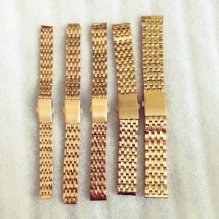 Dây Đồng Hồ Thép Không Gỉ Màu Vàng size 12mm 14mm 16mm 18mm 20mm 22mm
