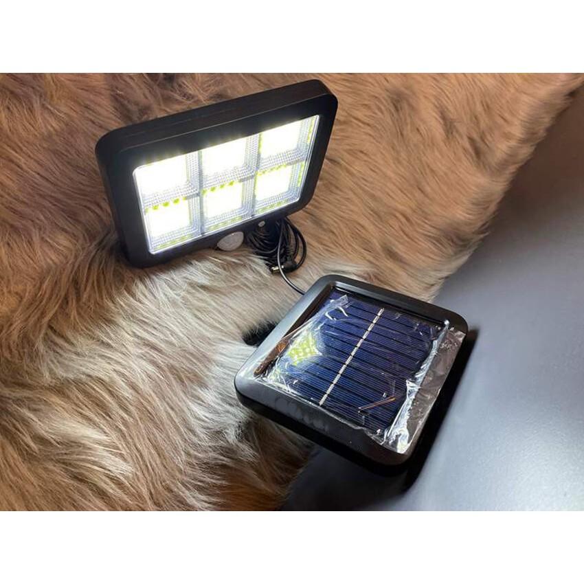Đèn năng lượng mặt trời 6 Cob 120 Led Pin rời dài 5m kèm điều khiển từ xa 3 chế độ sáng