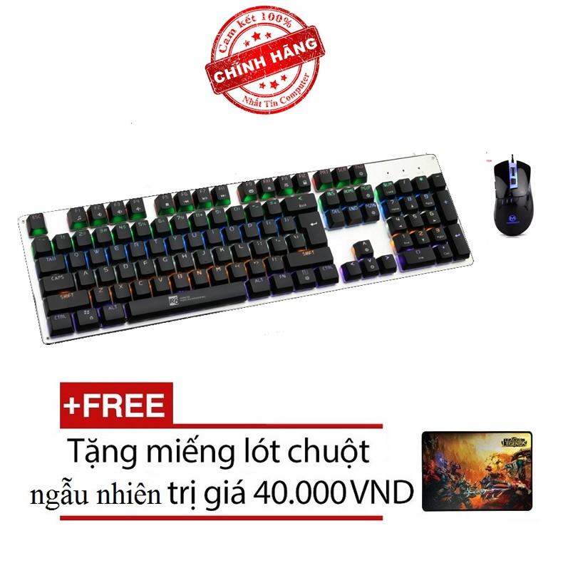 Bộ bàn phím cơ và chuột LED chơi Game R8 G100 - MORZZOR MZ-05 (Đen) + Tặng kèm lót chuột - 2563704 , 410060541 , 322_410060541 , 884000 , Bo-ban-phim-co-va-chuot-LED-choi-Game-R8-G100-MORZZOR-MZ-05-Den-Tang-kem-lot-chuot-322_410060541 , shopee.vn , Bộ bàn phím cơ và chuột LED chơi Game R8 G100 - MORZZOR MZ-05 (Đen) + Tặng kèm lót chuột