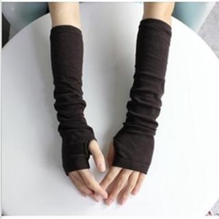 Đôi găng tay len dài hở ngón ấm áp cho nữ