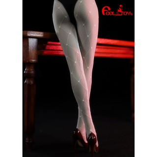 """FT017 In Stock 1/6 Scale Sexy Female Figure Accessory Grid Pattern Black Pantyhose Stocking Model for 12"""" Body"""