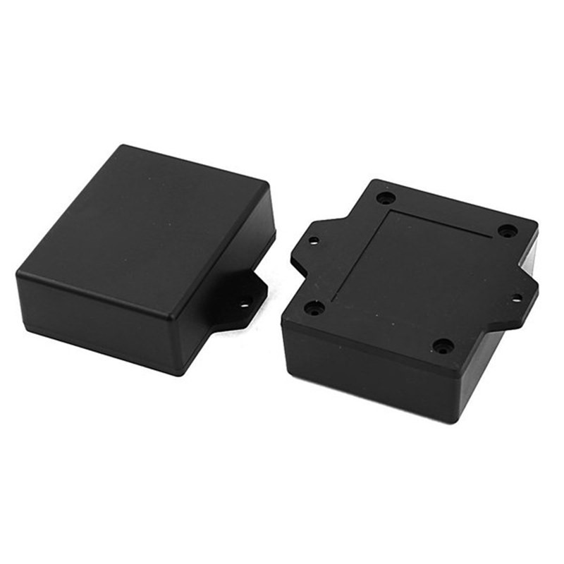 2 pcs 62 50 x 23mm rectangular plastic housing case black junction box