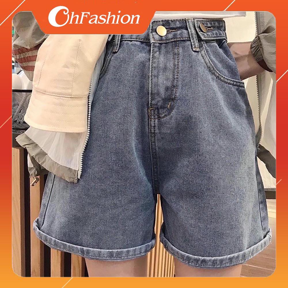 FS50K_Quần Short Jeans Nữ Cao Cấp (2 Nút Cài Bên) OHS058