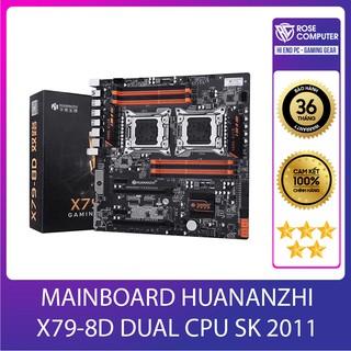 MAINBOARD HUANANZHI X79-8D DUAL CPU SK 2011(Intel X79, LGA 2011, ATX, 8 Khe Cắm Ram DDR3) hàng chính hãng, giá tốt