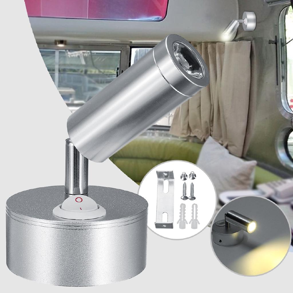 1pc Wall Spotlight Reading Light Caravan/Boat 3W Cabin/Chart Lamp 12V LED