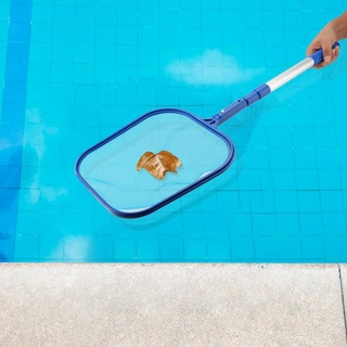 Swimming Pool Suction Head Fountain Sewage Dirt Vacuum Cleaner Brush with Leaf Mesh Net Cleaning Tool
