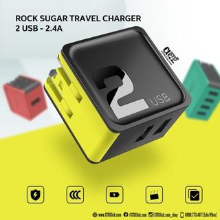 [SẠC IPHONE IPAD] CỦ SẠC 2 CỔNG USB ROCK SUGAR TRAVEL 2.4A CHÍNH HÃNG HÀNG CHUẨN