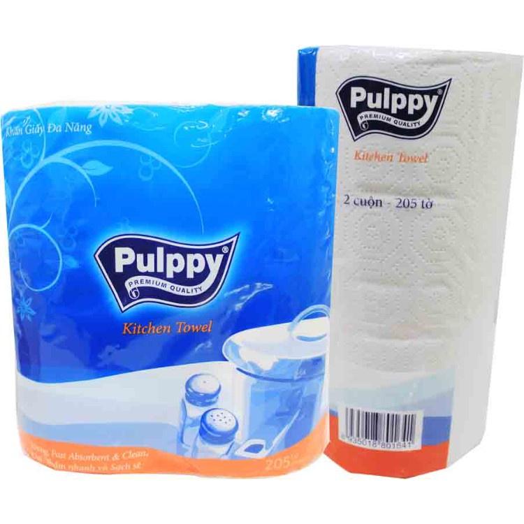 Giấy cuộn đa năng Pulppy ( 2 cuộn/ bịch) - Khăn giấy dày