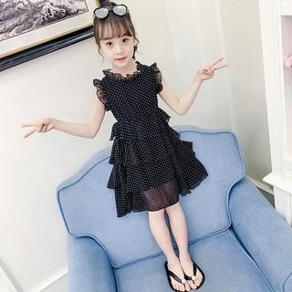 Váy công chúa bé gái chấm bi nhiều tầng [14-40kg]