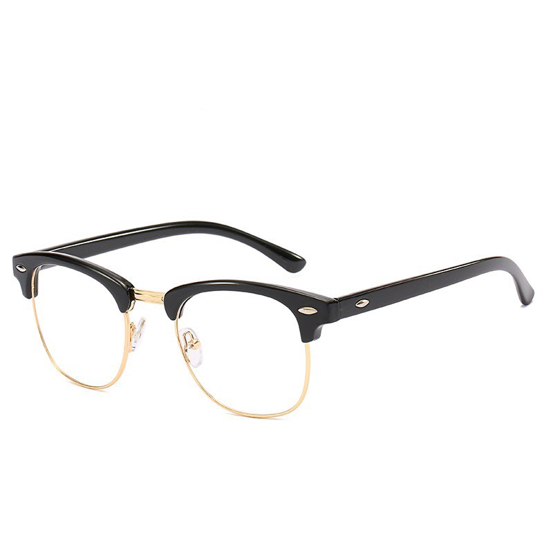 Iron Man Glasses #3016 Clubmaster Anti Rad Replaceable Lens Eyeglass