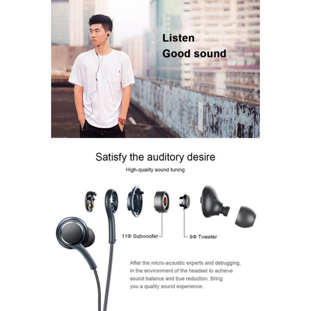 Ele】Tai Nghe Samsung S10 có míc đàm thoại tốt, Theo Thích Hợp Nhiều Dòng Máy Có Jack Tai Nghe 3.5