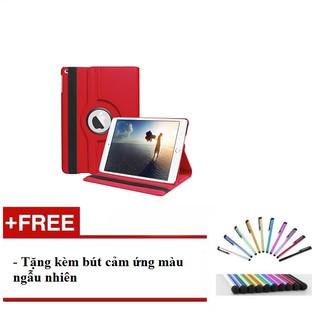 Bao da ốp lưng iPad 9.7″ New 2017 xoay 360 độ (Red) tặng kèm bút cảm ứng – H_shop_vn